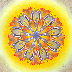 Lysel Mandala 'Vertrouwen' (wenskaart, artprint of originele tekening)