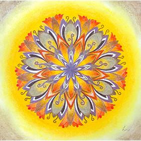 Lysel Mandala 'Vertrouwen' (wenskaart, print of originele tekening)
