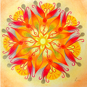 Lysel Mandala 'Doorbreken' (wenskaart, artprint of origineel)