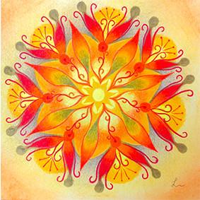 Lysel Mandala 'Doorbreken' (wenskaart, print of origineel)