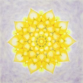 Lysel Mandala 'Power in het Licht' (wenskaart, artprint of originele tekening)