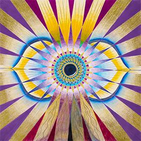 Lysel Mandala 'Zien met Gevoel'  (wenskaart, print of originele tekening)