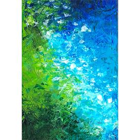 Lysel Art Tropisch Water (wenskaart of origineel schilderij)