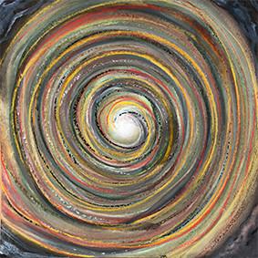 """Lysel Art """"Buiten naar Binnenste"""" 30x30 (ook als wenskaart)"""