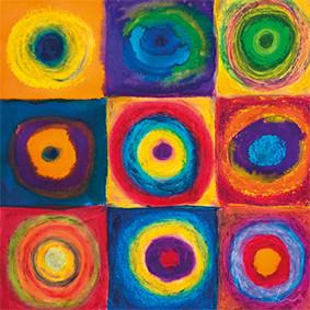 """Lysel Art """"Gekaderde Vrijheid"""" 50x50 (ook als wenskaart)"""