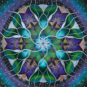 Lysel Mandala 'Licht in de Duisternis' (wenskaart, artprint of origineel)