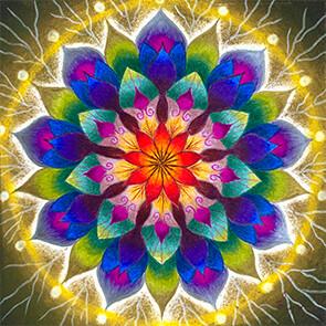 Lysel Mandala 'Wijsheid' (wenskaart, artprint of origineel)