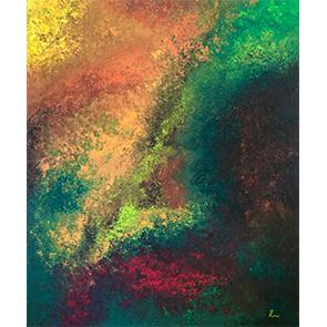 """Lysel Art """"Ontwaken in de Herfst"""" 120x100 (ook als wenskaart)"""