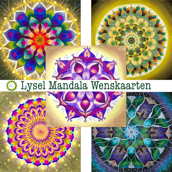Lysel Mandala Wenskaarten Mix 2 (5 stuks)