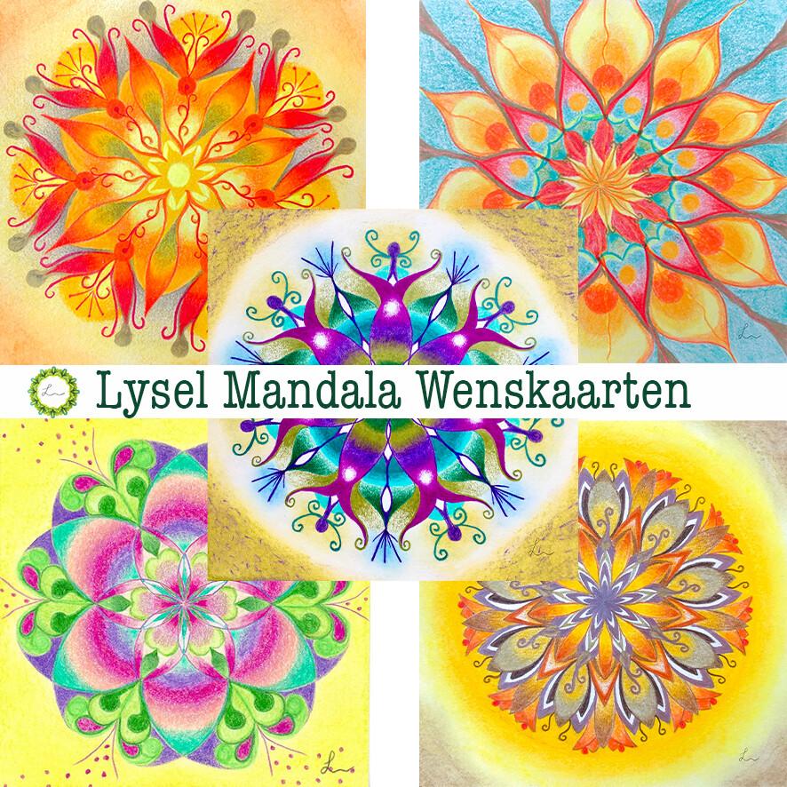 Lysel Mandala Wenskaarten Fresh (5 stuks)