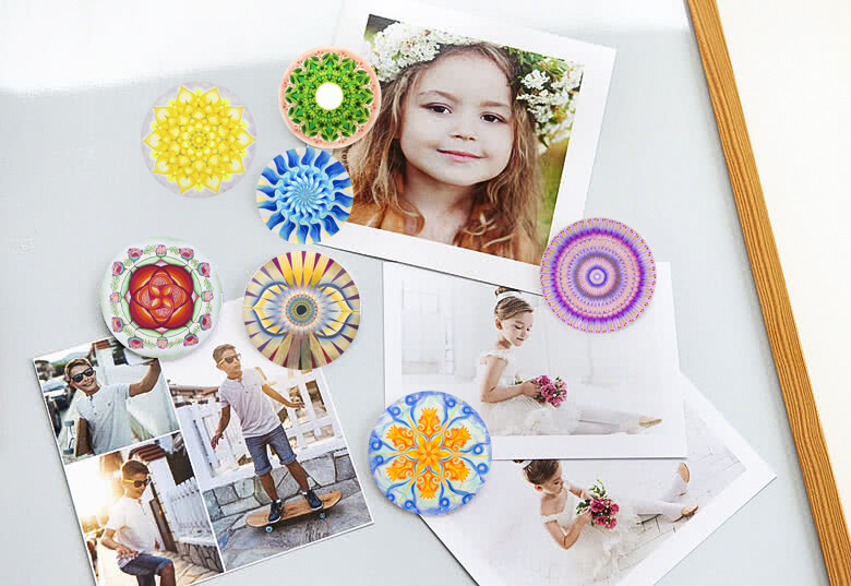 NIEUW!! Lysel Mandala Magneet Buttons Chakra's (7 stuks)