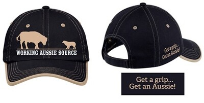 Working Aussie Source Ball Cap Hat - Black and Tan Australian Shepherd
