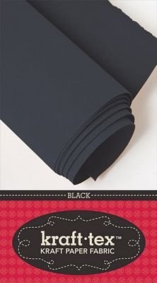 Kraft-tex Kraft Paper Fabric 48cm X 137cm - Black KTRBlack