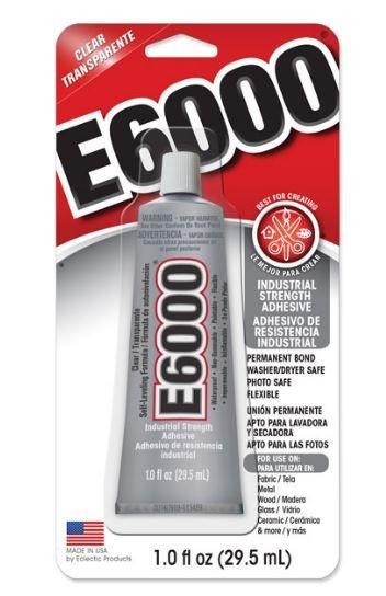 E6000 1oz/29.5ml With Optional Tips E6000Gotsml