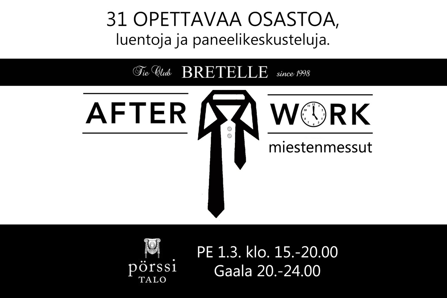 AFTER GALA Miestenmessut 10 €