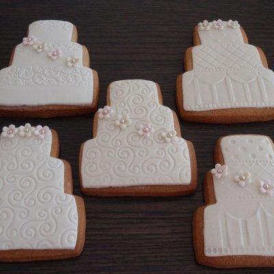 Wedding Theme Decorated Sugar Cookies
