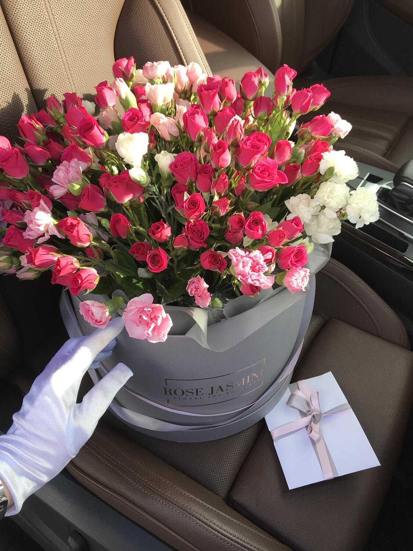 Garden Roses in a Petite Box (Cutest Arrangement Ever)