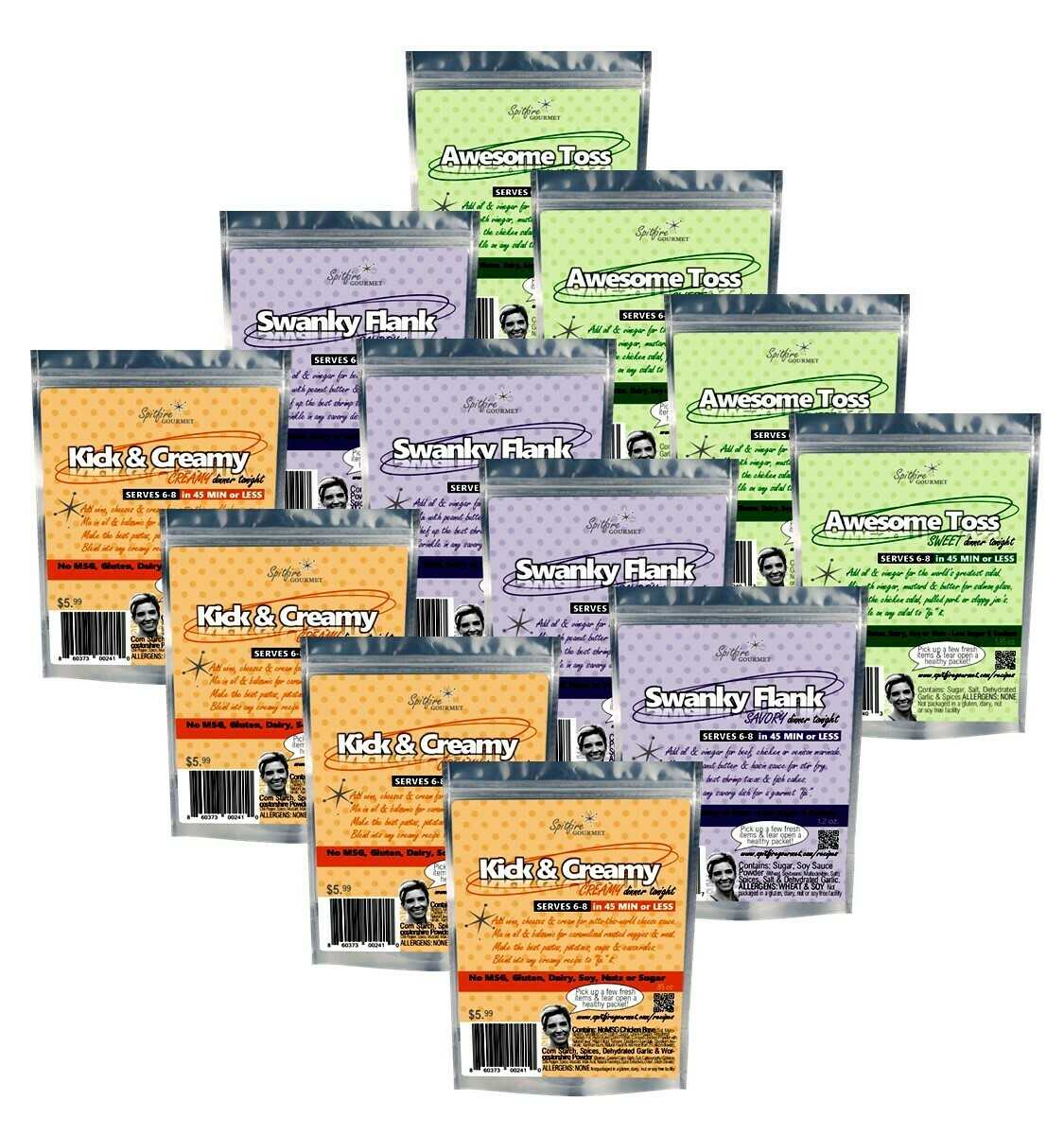 12-PACK REFILL - Cook dinners for 24 nights! You choose how many of each packet in