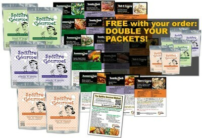 STARTER KIT - Cook dinners for 12 nights with 6 Packets, Full recipe card set, Gourmet