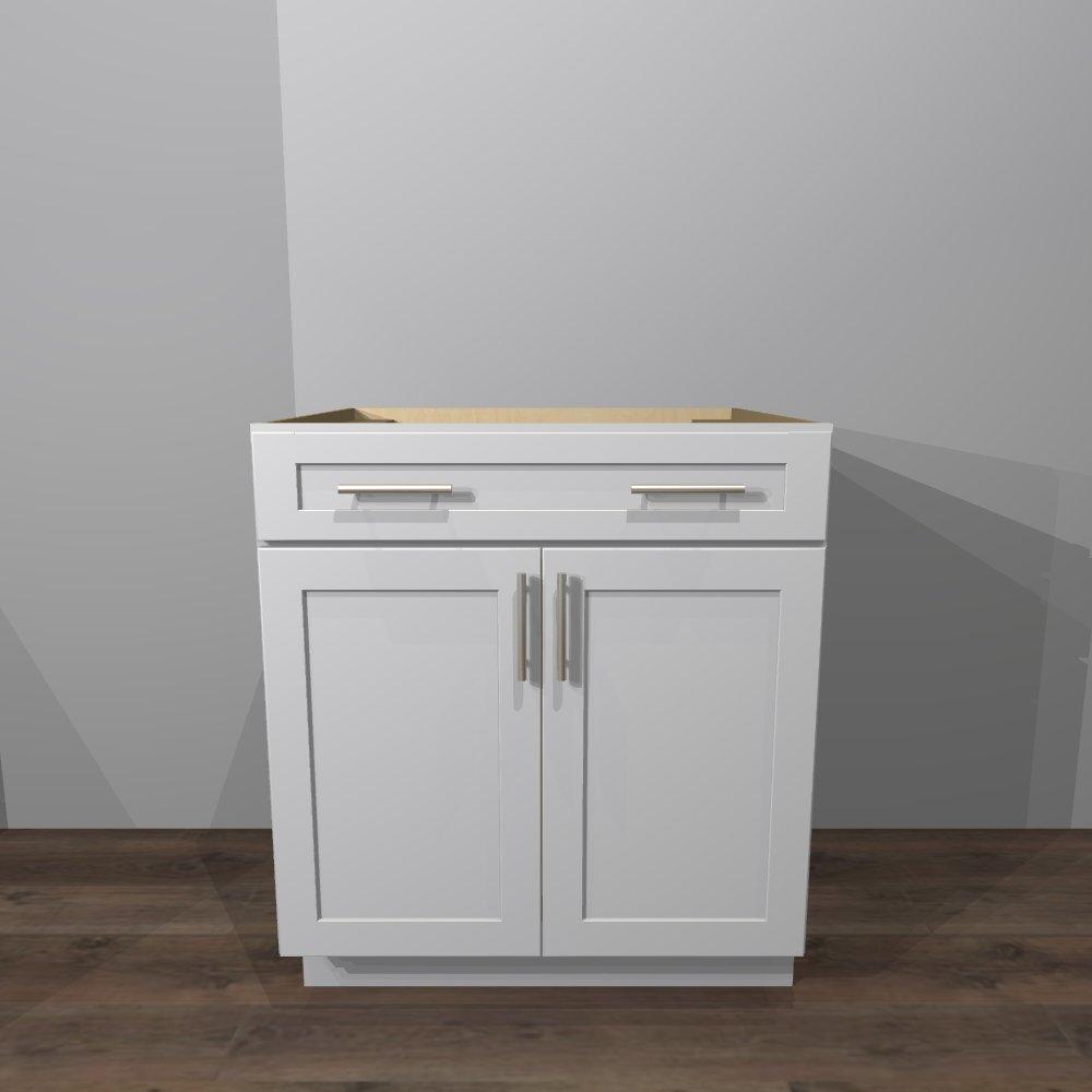 White Shaker Base Cabinet 30 W X 24 D X 34 1 2 H