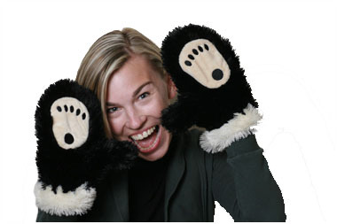 Bear Mittens for Kids