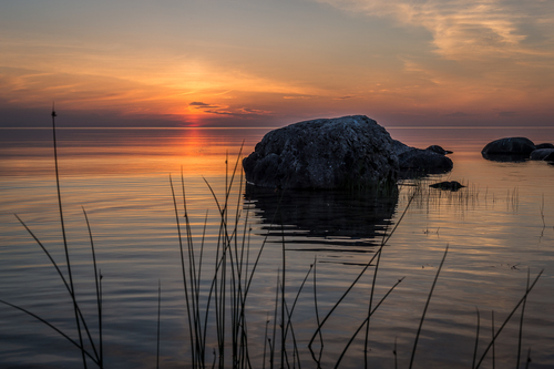 After Sunset, French Bay, South Sauble Beach, Ontario, Canada