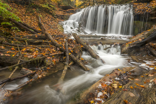 Weaver Creek Falls, Harrison Park, Owen Sound, Ontario, Canada