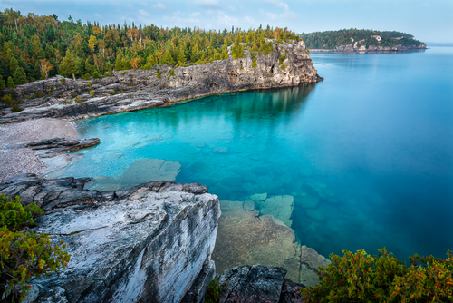 Indian Head Cove And The Grotto, Bruce Peninsula National Park, Ontario, Canada