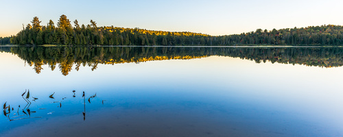 Like Glass, Whitefish Lake, Algonquin Park, Ontario, Canada