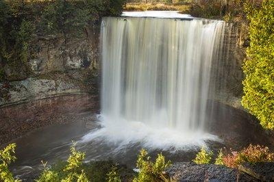 Indian River Falls, Balmy Beach, Owen Sound, Ontario, Canada