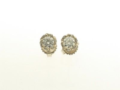 STUD EARRINGS/.69CTS CENTER STONES
