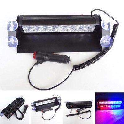 8 LED Car Strobe Flash Light Dash Emergency 3 Flashing Light Car