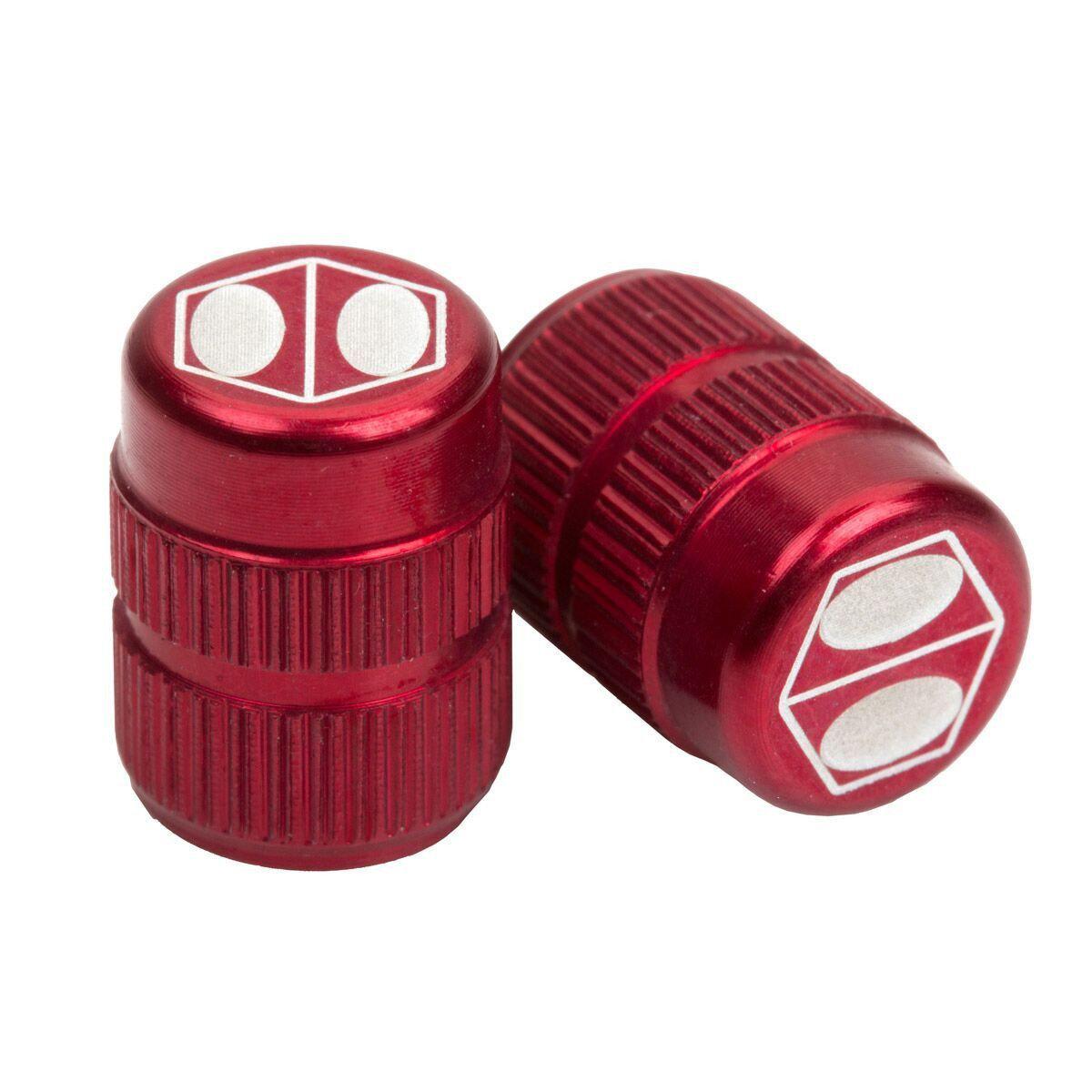 BOX ONE Schrader Valve Caps Red