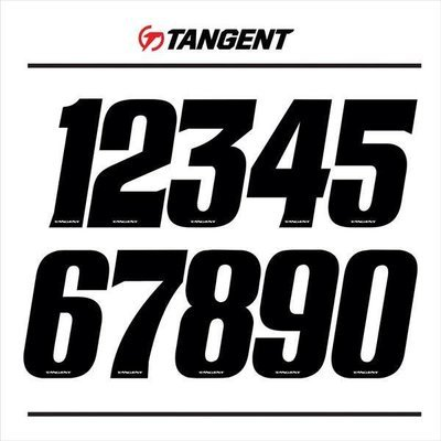 Tangent Solid Black Numbers