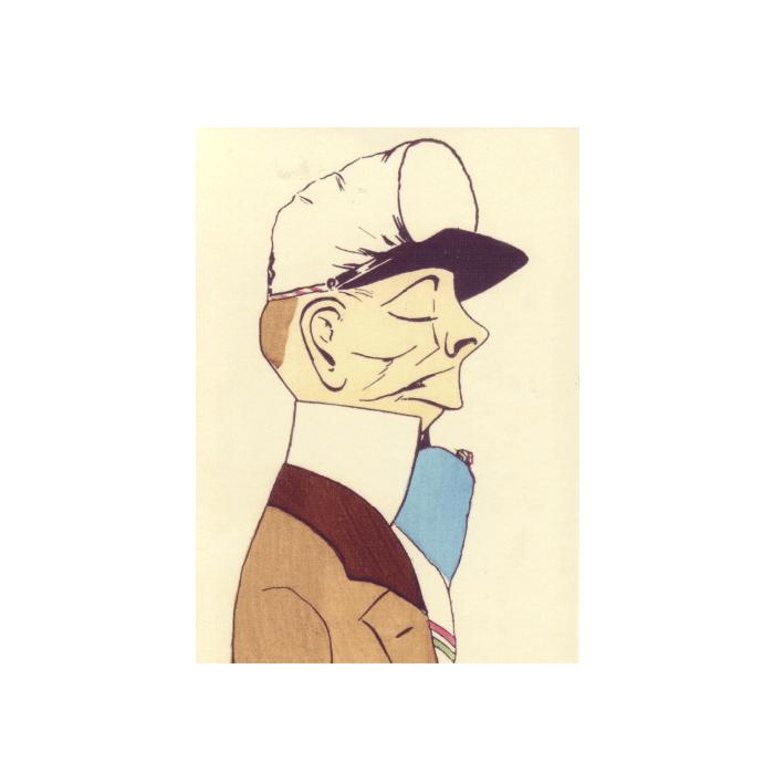 Stolzer Student mit Stürmer Karikatur um 1910