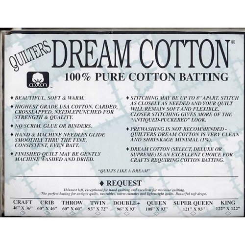 Craft White Request Dream Cotton by Quilters Dream 46 x 36