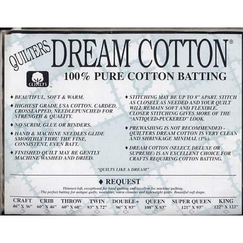 Crib White Request Dream Cotton by Quilters Dream 46 x 60