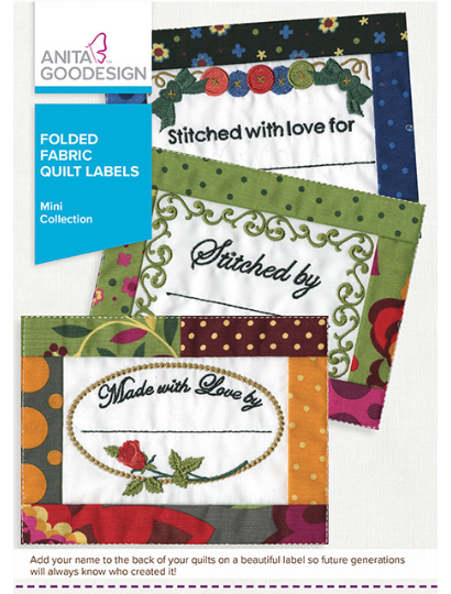 *** Folded Fabric Quilt Labels