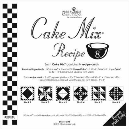 Cake Mix Recipe No. 8 - 44 Recipe Cards by Miss Rosie's Quilt Co