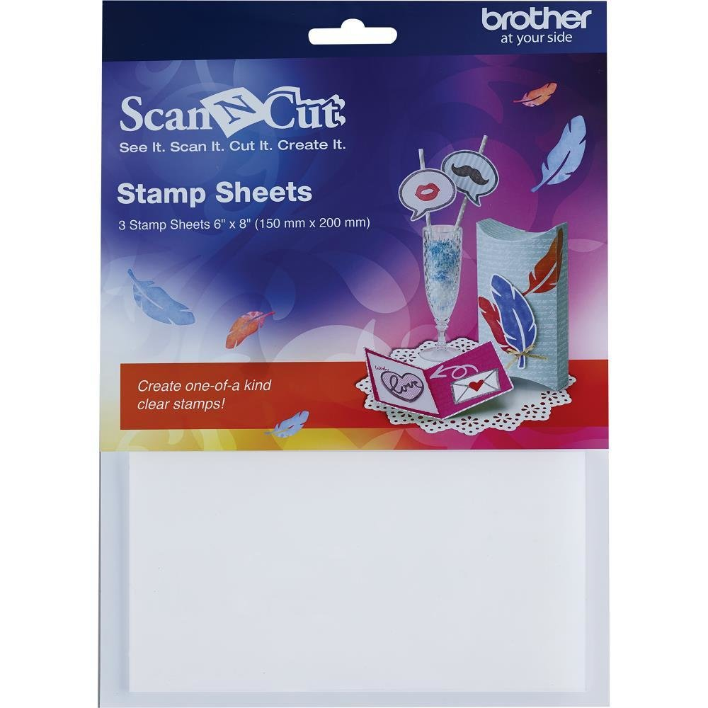 "*** Brother ScanNCut 6""X8"" Stamp Sheets 3/Pkg"