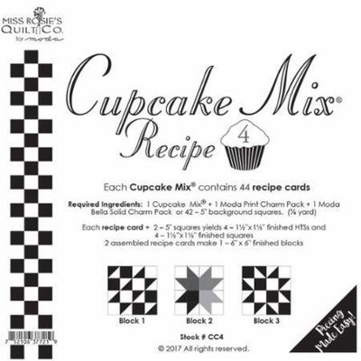 Cupcake Recipe Cards 4 - 44 count