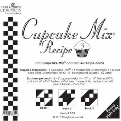 *** Cupcake Recipe Cards 3 - 44 ct