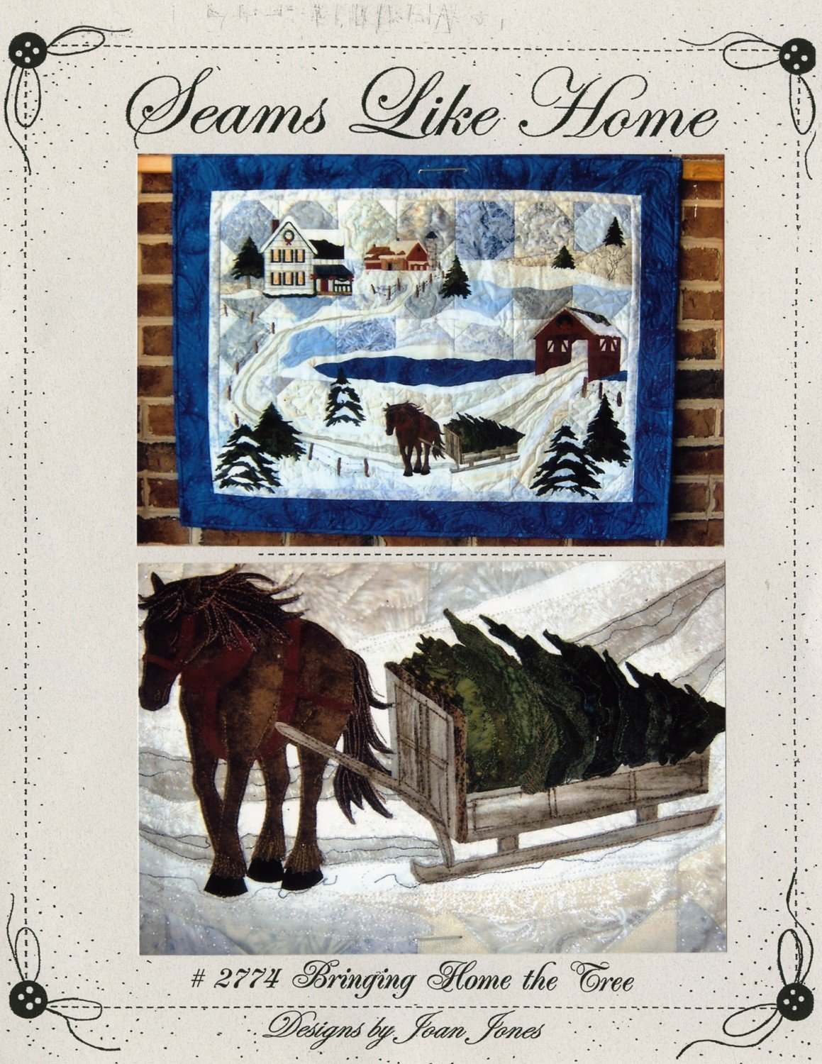 Pattern - Bringing Home the Tree from Seams Like Home by Joan Jones