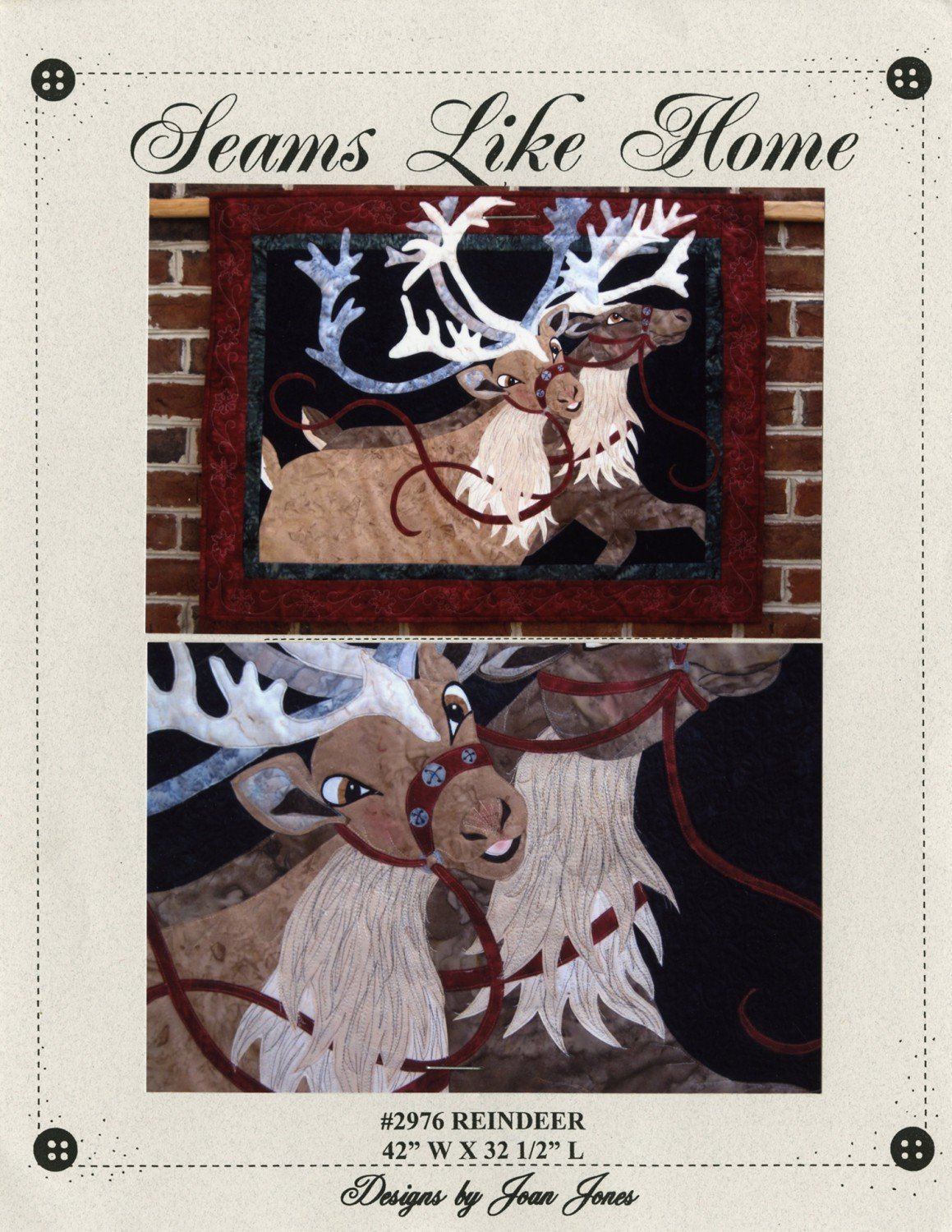 Pattern - Reindeer from Seams Like Home by  Joan Joans
