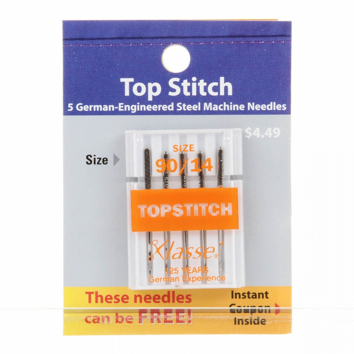 Klasse Top Stitch Needles SZ90/14