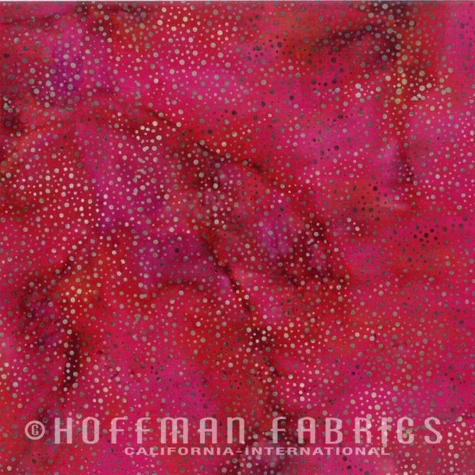 Xxx 885-292 Cardinal Hoffman Dot Batik Fabric
