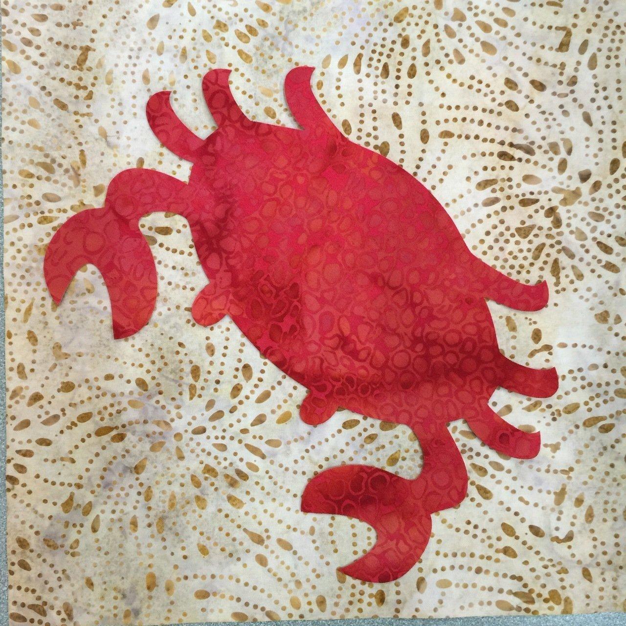 Red Crab Laser Cut Applique Shape