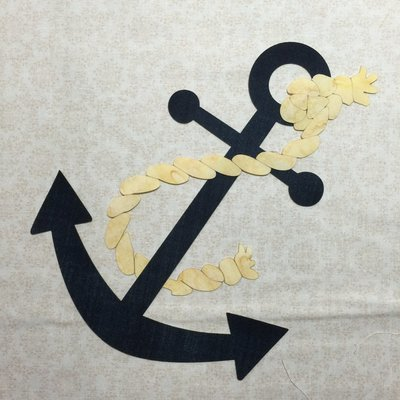 Anchor and Rope Laser Cut Applique Shapes