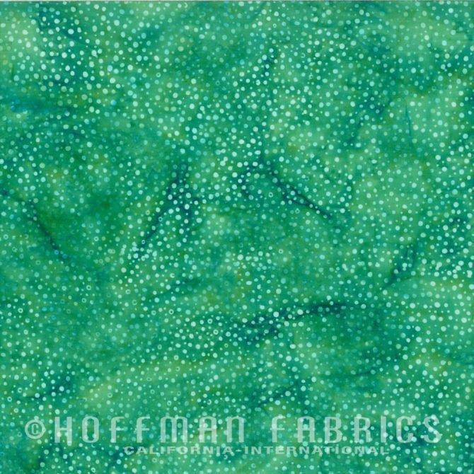 XXX 885-29 Jade Hoffman Dot Batik Fabric