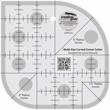 Creative Grids Curved Corner Cutter Quilt Ruler